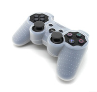 Free Shpping 50 Pieces/Lot  HOT Sell Protective Silicone Soft Skin Case Cover for PS3 Controller