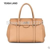 YEASALAND isa Lauder head layer Cowhide Leather Tote Handbag fashion simple litchi travel bag
