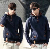 Free Shipping 2014 NEW Hot Fashion Hoodies Sweatshirts, Outerwear Men Outdoor Hoody,Boys Sports Suit cotton 6114