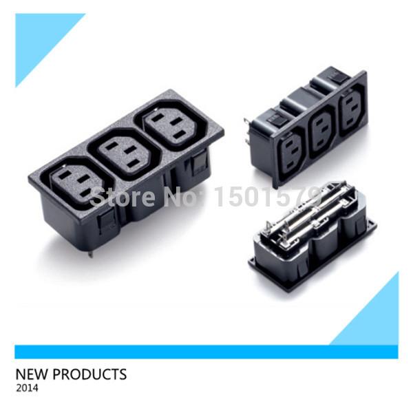 3 Way Electrical Extension Plug Socket/C13 Socket(China (Mainland))