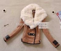 Winter Woollen Coat Women Outerwear Genuine Rabbit Fur Collar Thick Plus Size Wool Coat Parka Casacos Femininos