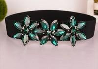 2014 New Korean exquisite Rhinestone cintos femininos fashion crystal ladies waist belt spring and summer belts for women
