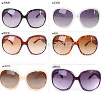 Retro anti UV PC lens sunglasses wild lady tide star style big frame sunglasses free shipping