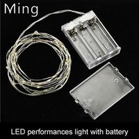 80 LEDS / 10M LED lantern string lights flashing battery light holiday decorative light strings waterproof full copper stars