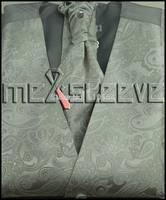 Wholesale Free shipping Single Breast Men Vest Waistcoat light Silver gray pattern Vest(vest+bowtie+Handkerchief+cufflinks)