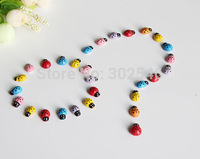 1500PCS/LOT,6 Color ladybug stickers,Fridge sticker,Wall stickers,Garden ornament,Easter crafts.13x9mm