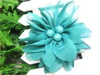 Soft Colorful 12cm Headdress Polyester Dance Hair Flower Brooch Clip Party Wedding Accessory Bag Decor