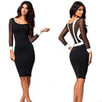Slim women dresses Sexy Black Club Dresses Soft Hand Feeling Sequin Dress Knee-Length Bodycon Dress Vestido Sexy