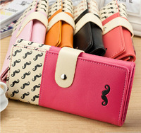 New Mustache Korean Women Wallets Brand Desigual High Quality Long Clutch PU Leather Carteira Ladies Money Purse Card Pack