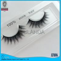 UPS Free Shipping top quality hand-tied, thin band AFM020 100pcs/lot 100% real mink eyelashes siberia mink fur eyelash extension