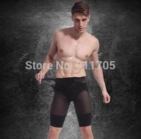 Free Shipping 2014 New Men Body Slimming Shaper Fashion Black White Shaping Pants Fitness Pants Shapewear For Men M/L Wholesale