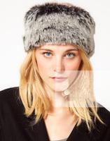 New 2014 Winter Women Faux Fur Hat Headband Lady Earwarmer Head Band Fashion Ski Russian Cossack Style Girl Headring Headwear