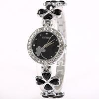 KIMIO Luxury Brand Watch Fashion Elegant Ladies Watch A Clover Diamond Bracelet Quartz Watch
