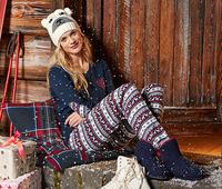 Christmas sleepwear PJs for Women,cotton Pajamas by SleepytimePjs pijama women Dot pajamas adult winter pajamas nightwear set