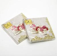[4 packs]  100% original pulp eco-friendly creative paper napkins printed wedding napkin cocktail napkins -4NC4062