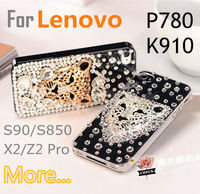 Fashion rhinestone case For Lenovo K920 K910 Vibe X2 S960 S90 S930 S890 S860 S850 S820 S8 P780 A8 A516 Free shipping