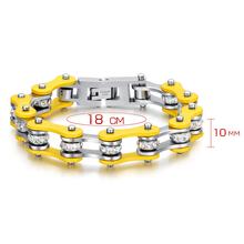 Women Bracelet stainless steel bike chain bracelet jewelry with crystal Bracelet jewelry for women free shipping
