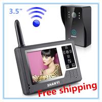 """Wireless3.5"""" TFT Video Intercom Door Phone Doorbell Home Surveillance Color System"""
