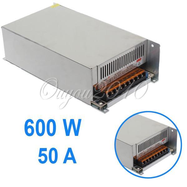 Импульсный блок питания No 110/220v DC 12V 50 600W 600W 12V 50A Power Supply 220v to 24 220v 3000w switching power supply dc power adapter monitor power supply