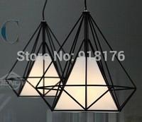 Free shipping modern minimalist, retro, restaurant, bar, Pyramid, Diamond Birdcage Chandelier