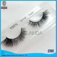 UPS Free Shipping Factory Price 50pcs/lot AFM003 100% real siberian mink fur false eyelash mink lashes thick fake eyelashes