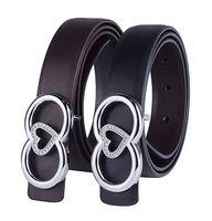 Brand New Women's Genuine Leather Belt, Vintage Style Metal Rivet With Rhinestone Pin Heart Buckle Pigskin Strap For Women