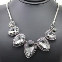 Star Jewelry 2014 New Vintage Jewelry Flower Choker Shourouk Charm Rhinestone Retro Statement Necklaces & Pendant N14001