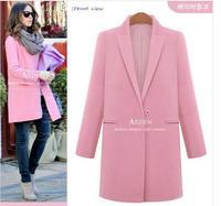 abrigos mujer Women Winter Autumn Woolen Slim Long Coat Plus Size 2014 New casacos femininos