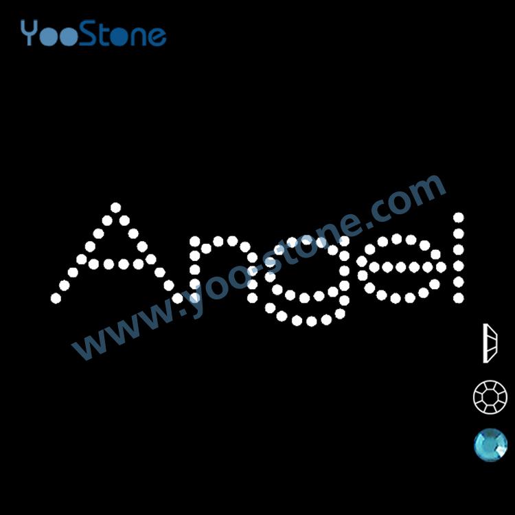 2014 mais Popular tamanho pequeno anjo strass projetos de transferência de calor grátis frete e livre Designs 20 peças/lote(China (Mainland))