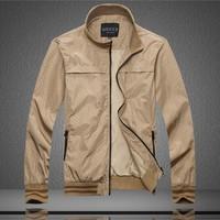 2014 autumn new men's classic jacket / Brand stylish leisure outwear coat