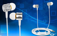 Universal Metal Stereo Bass ear earphones headsets headphones for Mobile Phone iphone 4 4S 5 5S Xiaomi Samsung HTC Nokia  M30Sil