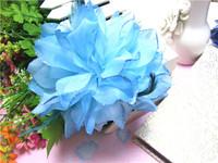 Mix Color Headdress Glitter Flower Feather Belly Dance Hair Brooch Clip Party Wedding