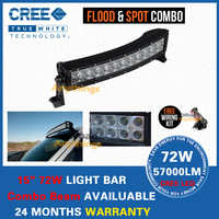13.5 Inch 72W Curved Cree Led Light Bar Combo Beam For Off Road 4x4, F150 Ford Raptor,R2-72W,Radius Led Light Bar For Ttruck
