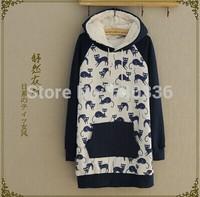 free shipping Hitz stitching animal cartoon patch cardigan sweater coat