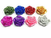 Newest !!  42MM 50pcs/lot  Mixed   Metallic  Resin Flower Beads  Free Shipment !