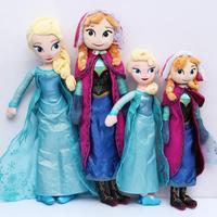 2pcs/lot 40CM and 50cm anna elsa Plush Toys 2014 New Princess Elsa plush Anna Plush Free Shipping