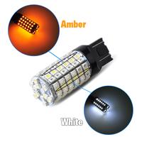 Suparee 2pcs T20 7443 120smd 5050 Led Chip Brake Turn Signal Light Lamps Bulb Amber Yellow White