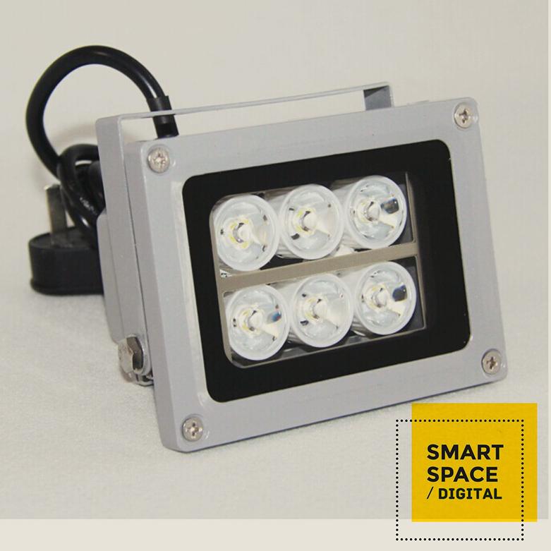8 W placa de captura de 6 matriz de led de luz branca nightvision IR iluminador luz para CCTV WDR câmera de vídeo colorida(China (Mainland))