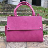 Casual Vintage England Style women handbag PU leather shoulder bag dual zipper handbag rivet solid color messenger bag 004