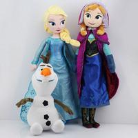 3pcs/lot 50CM Elsa Anna Plush TOy 30CM olaf plush + Princess Elsa plush Anna Plush Doll Brinquedos Kids Free Shipping