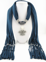 New Fashion Jewelry Fringed Scarf Small Feet Pendant Scarf Free Fast Shipping