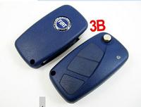 BRAND NEW Penggantian Shell Folding remote Kasus Key untuk FIAT Punto Ducato Stilo Panda Balik Fob Warna Biru 3 Button