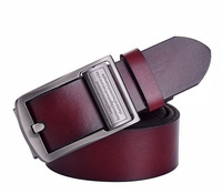 Dropshipping Mens Accessory Leather Single Prong Real Leather Belt Business Casual Metal Buckle Feitong dermis Belts free ship