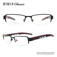 Metal Half Rim Men Eyeglasses Frame Prescription Eyewear Fashion Glasses Degree
