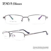 Metal Half Rim Eyeglasses Frames Men Glasses Prescription Eyewear For Optical Lens