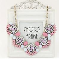 2014 New Statement Necklace Flower Choker Shourouk Chain Rhinestone Vintage Fashion Necklaces & Pendants Jewelry For Women
