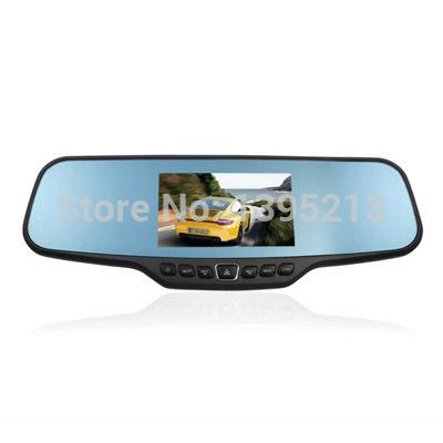 2014 New 4.3 inch Full HD1080P GPS Mirror Car camera Rearview Mirror car Monitor for Dual CarCam Mount Car Vehicle Camera(China (Mainland))