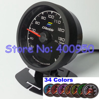 60mm Racing Car 34 Colors LCD Oil Temp Gauge / Performance Tuning Auto Oil Temp Meter