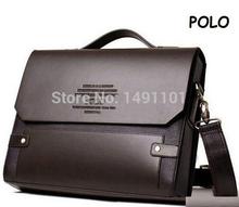 brand new Top seller Leather Polo Men's handbags Messenger Briefcase Bags Men Shoulder Bag Laptop Bag ( Cross section )(China (Mainland))