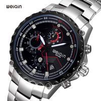 Luxury Brand WeiQin Stainless Steel Watches Women Watch Chronograph Waterproof Date Calendar Luminous Rose Gold